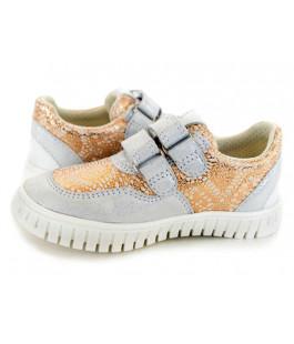 Стильні шкіряні кросівки для дітей Мальви Д461 блиск (20-28р.)