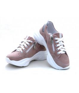Стильні шкіряні кросівки для дівчат Мальви Ш462 Рожевий (32-36р.)