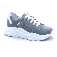 Стильные кожаные кроссовки для девочек Мальвы Ш462 Серый (32-36р.)