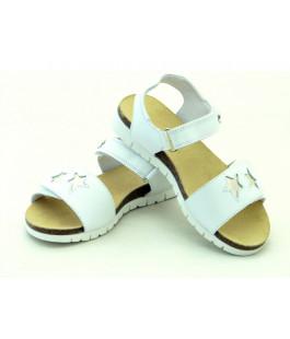 Білі шкіряні босоніжки для дівчат Мальви Ш474G (27-36р.)