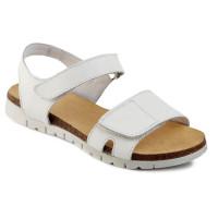 Белые кожаные босоножки для девочек Мальвы Ш474 (27-36р.)