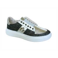 Стильные кроссовки для девочки Palaris 2391 серебро  (30-35р.)