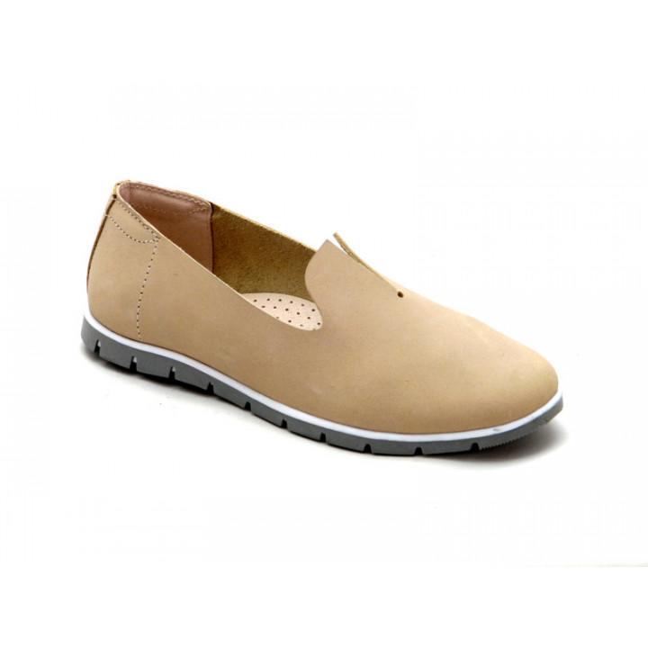 Купити шкіряні туфлі для дівчат Palaris 2387 беж