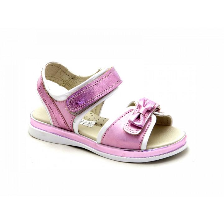Купить детские кожаные босоножки для девочки Palaris 1288 розовый