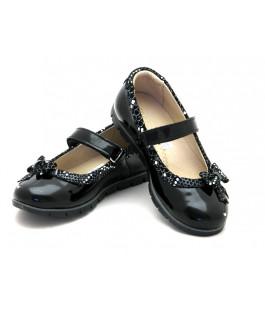 Шкільні чорні туфлі для дівчинки Palaris 1478 (29-31р.)