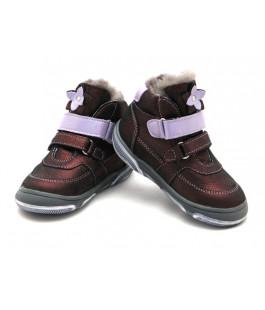 Зимние детские ботинки для девочек Palaris 2285 бордо  (24-27р.)