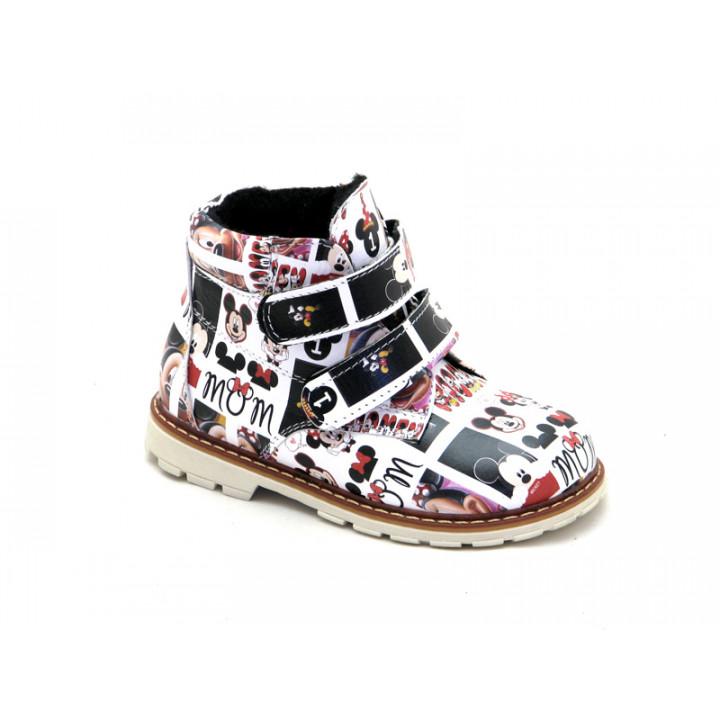 Купить детские кожаные демисезонные ботинки для девочки Palaris 2112