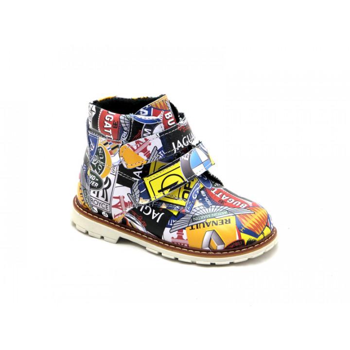 Купить детские кожаные демисезонные ботинки для мальчика Palaris 2112