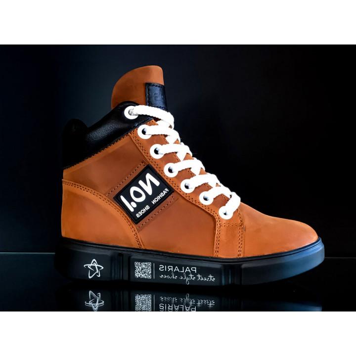 Купити суперстильні шкіряні демісезонні черевики для підлітків Palaris 2576