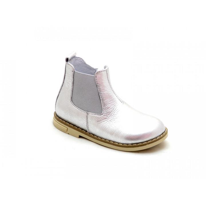 Купити дитячі шкіряні демісезонні черевики для дівчат Palaris 2051 срібло 947483511155d