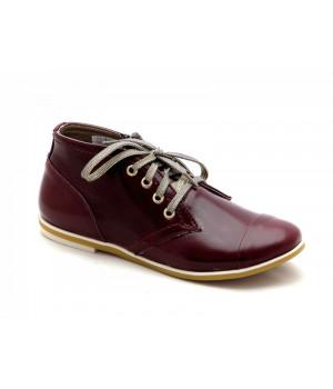 Демісезонні бордові черевички для дівчинки Palaris 2141-3 (31-35р.)