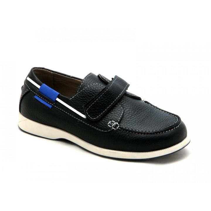 Купить кожаные черные топсайдеры для мальчика Palaris 2026