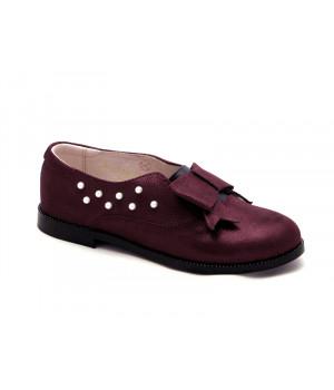 Школьные закрытые туфли для девочки Palaris 2366 бордо  (31-35р.)