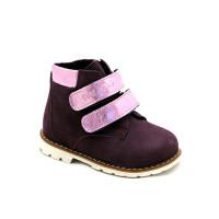 Демісезонні бордові черевички для дівчинки Palaris 2112 (23-26р.)