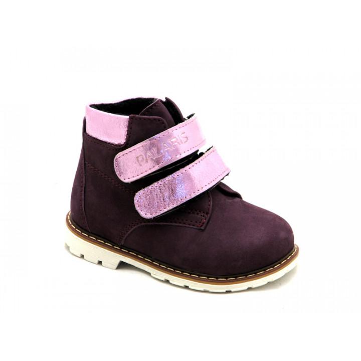 Купити дитячі шкіряні демісезонні черевики для дівчат Palaris 2112 бордо