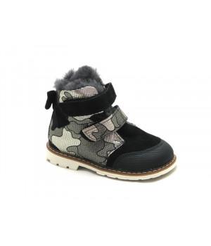 Зимние детские ботинки для девочек Palaris 2375 черный  (23-27р.)