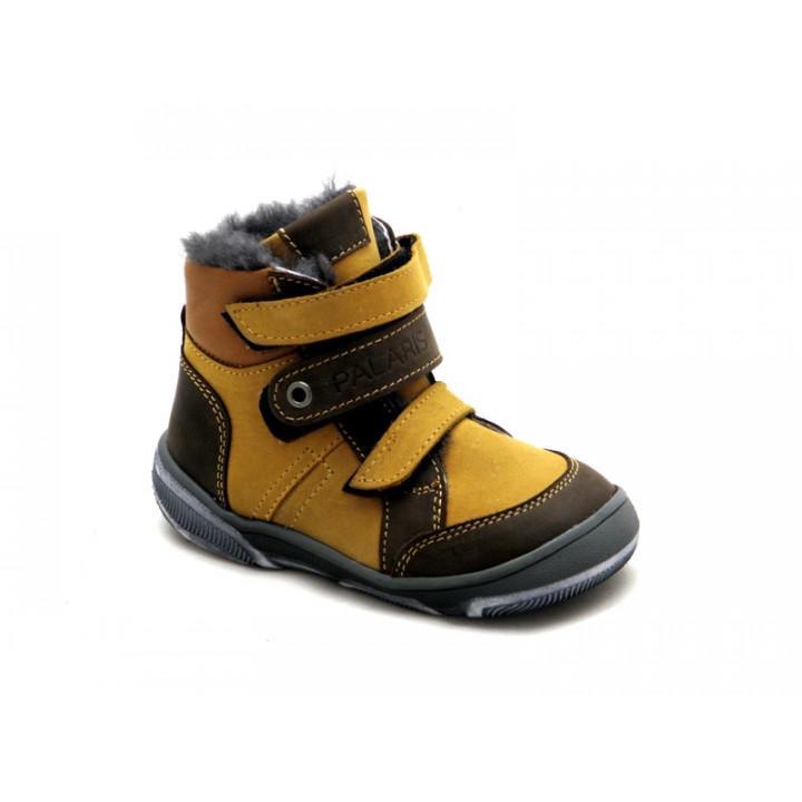 Купить детские кожаные зимние ботинки для мальчика Palaris 2283 - натуральный мех