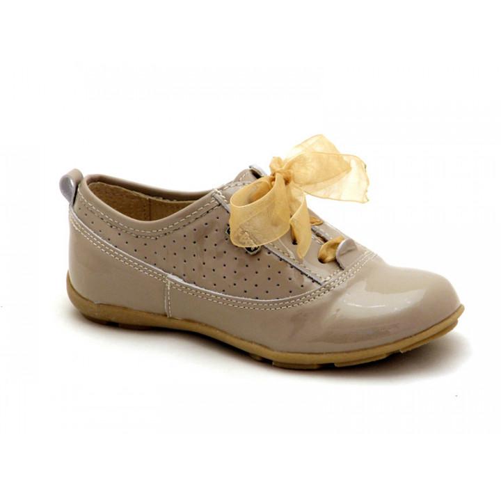 Купить кожаные детские полуботинки для девочек Ren-But 23-3249 Bez