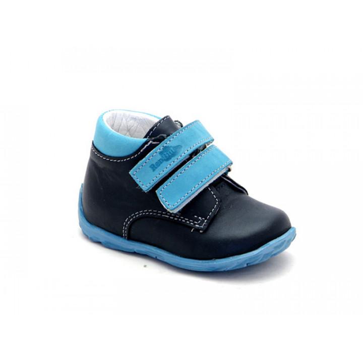 Купить стильные демисезонные ботинки для мальчика Ren-But 13-1447 Granat-turkus