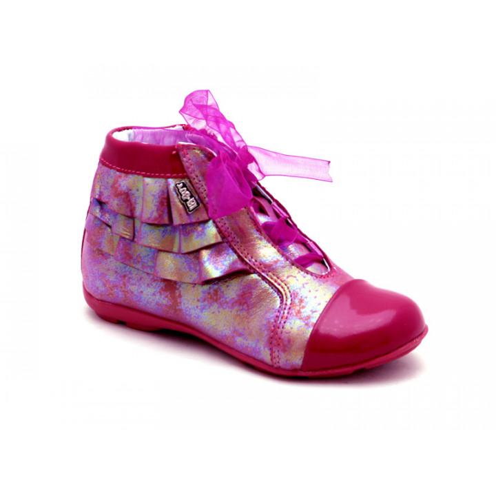 Купить кожаные детские полуботинки для девочек Ren-But 23-3234n Amarant