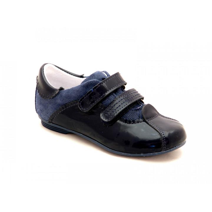 Купить кожаные детские полуботинки для девочек Ren-But 23-3283 Granat
