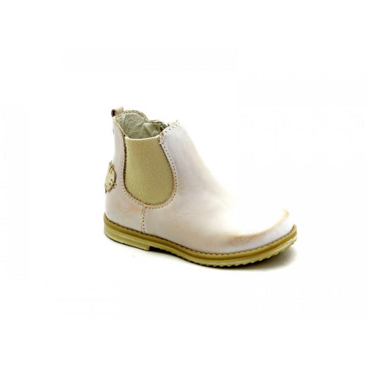 Купить кожаные детские золотистые ботинки для девочек Ren-But 13-1479 Zloty