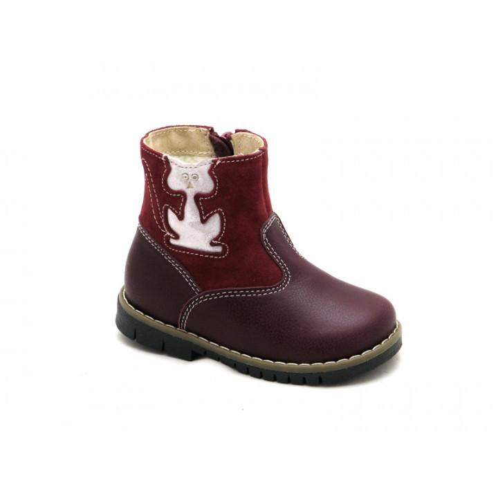 Купить теплые зимние сапожки для девочки Ren-But 12-1505 Bordo