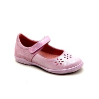 Серебристые кожаные туфли для девочки Ren-But 23-3285 Roz-Srebrny (26-30р.)