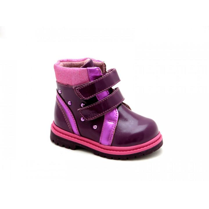 Детские демисезонные ботинки для девочки ShagoVita 15139Б фиолетовый наплак