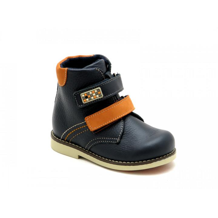 Демісезонні черевики ортопедичні дитячі для хлопчика ShagoVita VERO 25148Б синій