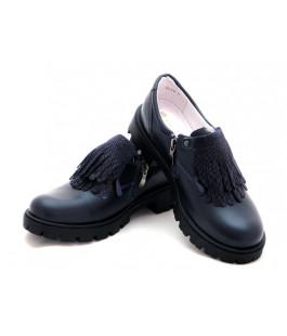 Закрытые туфли школьные для девочек ShagoVita 61143 темно-синий (35-37р.)