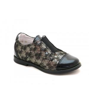 Закрытые туфли школьные для девочек ShagoVita 41100 черный наплак (29-31р.)
