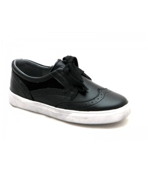 Черные стильные туфли для мальчика ShagoVita 51234 (32-37р.)