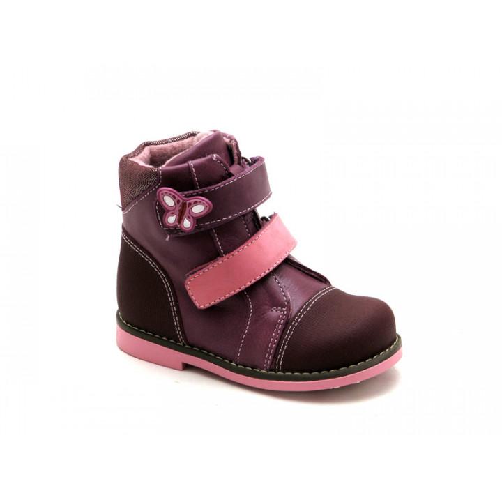 Детские демисезонные ботинки для девочки ShagoVita VERO 25169Б темно-сиреневый