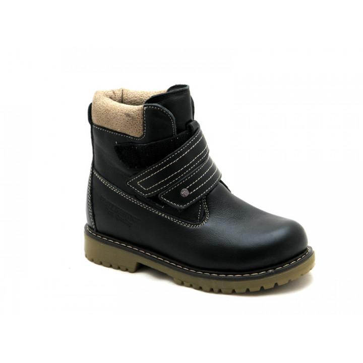 Зимние ботинки для мальчиков школьников Шаговита 35117Ш черный