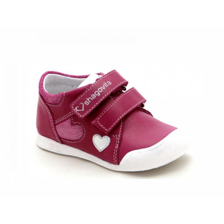 Купить малиновые ботиночки для девочек ShagoVita (Беларусь) 21137