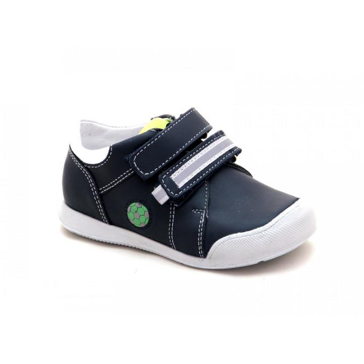 Купить кожаные синие ботиночки для мальчиков ShagoVita (Беларусь) 21143