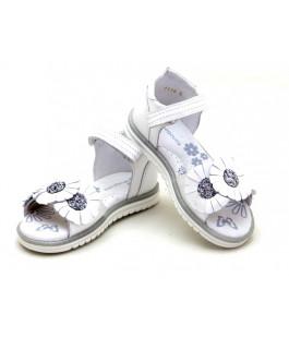 Белые кожаные босоножки для девочек ShagoVita 44119 (27-31р.)
