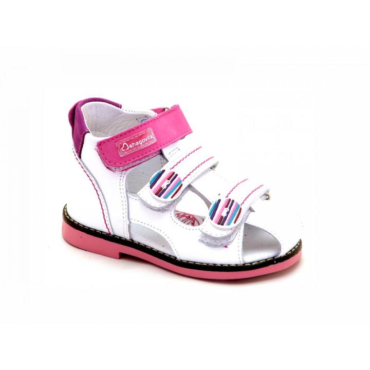 Купить белые кожаные босоножки для девочек ShagoVita VERO 24195