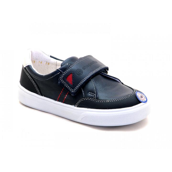 Туфли на липучках для мальчиков ShagoVita 31142 темно-синий