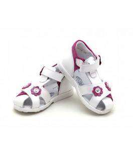 Белые кожаные босоножки для девочек ShagoVita 24184 (23-26р.)