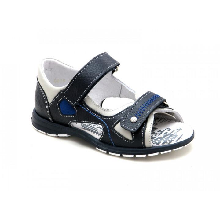 Купить кожаные босоножки для мальчиков ShagoVita 3492 Синий