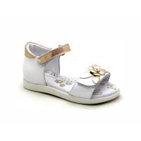 Белые кожаные босоножки для девочек ShagoVita 44118 (27-31р.)