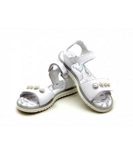 Белые кожаные босоножки для девочек ShagoVita 6482 (33-37р.)