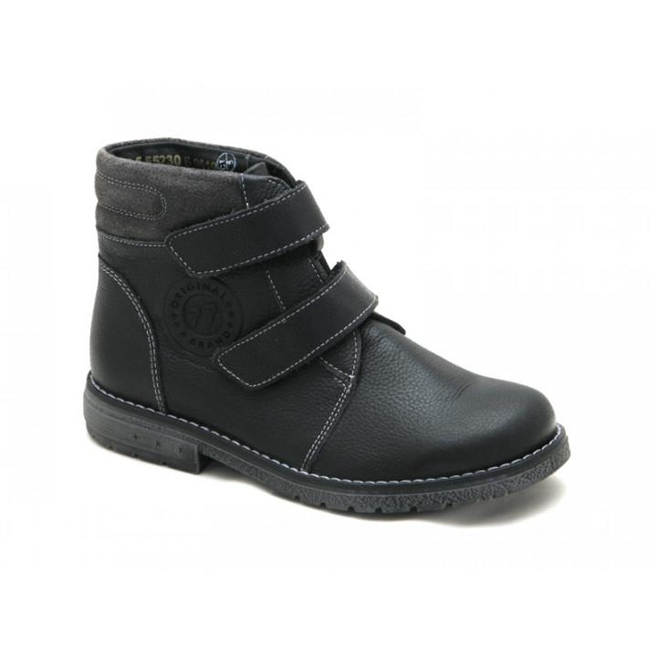 Демісезонні черевики для школярів хлопчиків ShagoVita 55230Б чорний