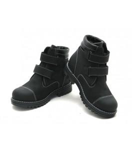 Зимові черевики для школярів ShagoVita 55251Ш чорний нубук (32-37р.)