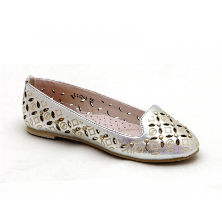 Купить летние туфельки для девочек СкаЗка L14262 Silver
