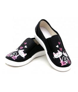 Текстильные мокасины для девочек WALDI 282-740 (30-36р.)