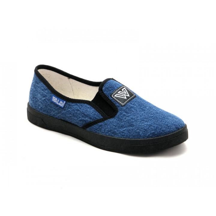 Купить стильные текстильные слипоны для подростка WALDI 60-495-2 джинс