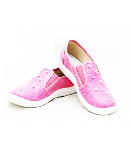 Текстильные мокасины для девочек WALDI 277-757 (30-36р.)